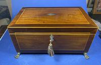 Regency Mahogany Jewellery Box With Inlay