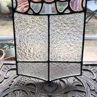 Antique Stained Glass Panel with Pink Glass Detail (10 of 10)