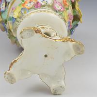 Derby Porcelain Vase of Encrusted Flowers c.1825 (11 of 11)