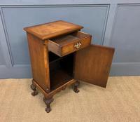 Queen Anne Style Burr Walnut Bedside Cupboard (9 of 10)