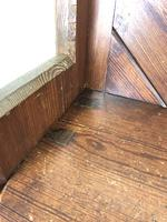 Antique Pitch Pine Church Pew with Enamel Number '37' (4 of 12)