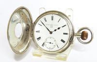 Antique Silver English Half Hunter Pocket Watch (2 of 5)