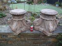 Stunning 18th / 19th Century Walnut ? Hand Carved Corinthian Column Bases (12 of 12)