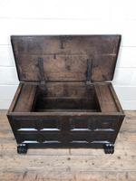 Antique Rare 17th Century Oak Coffer with Block Paw Feet (M-716) (16 of 16)