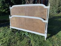 Kingsize Painted & Caned French Bed (6 of 9)