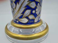 Antique Fritz Heckert Glass Vase with Cover, Large Trumpet Vase - Signed (4 of 8)