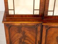 Regency Style 4 Door Breakfront Mahogany Bookcase (4 of 9)