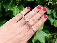 0.23ct Sapphire & 0.43ct Diamond, 18ct Yellow Gold Bracelet - Antique c.1920 (2 of 12)