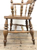 19th Century Beech and Elm Smoker's Bow Chair (4 of 12)