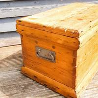 19th Century Carpenters Trunk with Shipwreck Finish (4 of 8)