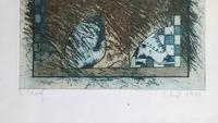 Original Etching 'Seated Figure' Signed Elip & Dated 1976 (2 of 2)