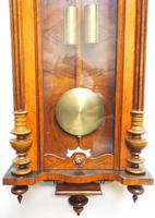 Gustav Becker Antique Walnut & Ebonised 8-day Twin Weight Striking Vienna Regulator Wall Clock (5 of 14)