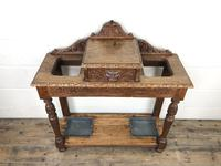 Antique Victorian Carved Oak Hall Stand (13 of 14)