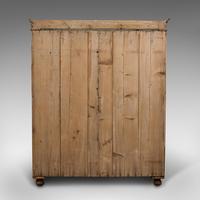 Antique Three Panel Wardrobe, English, Pine, Cupboard, Closet, Victorian c.1900 (7 of 10)