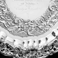 Magnificent Georgian Sterling Silver Tray / Salver with Military Lieutenant Interest - James Fray 1833 (13 of 23)