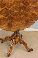 Antique Burr Walnut Shaped Occasional Table (4 of 9)