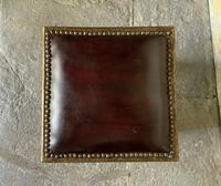 Pair of Moroccan Country House Studded & Leather Upholstered Footstools Seats (3 of 9)