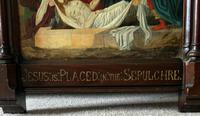 Superb 19th Century Old Master Biblical Jesus Religious Oil Painting - Gothic Oak Frame (11 of 14)