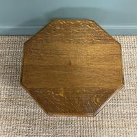 Quality Edwardian Oak Antique Coffee Table (4 of 5)