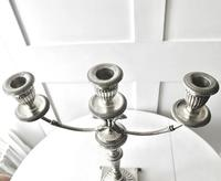 Italian Pair of Silver Neo-classical Design Three-light Table Candelabra, Florence c.1945 (11 of 13)