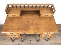 Edwardian Antique Oak Kneehole Desk (12 of 13)