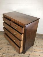 Antique 19th Century Oak & Mahogany Chest of Drawers (6 of 12)