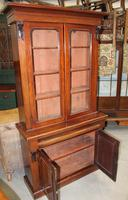 1910's Mahogany Chiffonier Bookcase with Glazed Top (3 of 5)