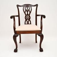 Set of 8 Antique Mahogany Chippendale Style Dining Chairs (8 of 12)