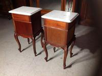 Pair of French Mahogany Bedside Cabinets (3 of 8)