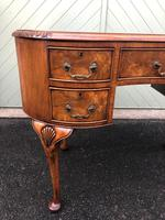 Antique Walnut & Burr Walnut Kidney Shaped Desk (12 of 13)