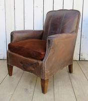 Pair of Antique French Leather Club Chairs (9 of 14)