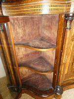 19thc Burr Walnut Credenza Cabinet (6 of 10)
