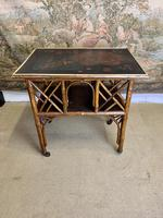 Victorian Bamboo Occasional Table with Lacquered Top
