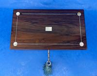 William IV Rosewood Twin Section Tea Caddy with Mother of Pearl Inlay (3 of 14)