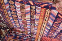 Large Mid 20th Century Colourful Flat Weave Woolen Rug (15 of 15)