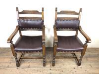 Pair of Mid 20th Century Oak Armchairs (2 of 7)