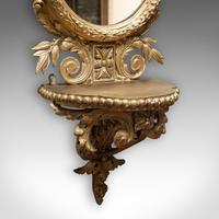 Antique Wall Mirror. French, Gilt Gesso, Oval, Ornate, Victorian c.1850 (9 of 9)