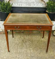 Victorian Mahogany Two-Drawer Writing Desk (6 of 8)