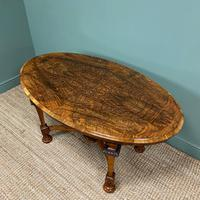 Magnificent Victorian Figured Walnut Antique Centre Table (7 of 9)
