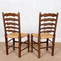 6 Oak Elm Rushwork Country Dining Chairs (9 of 10)