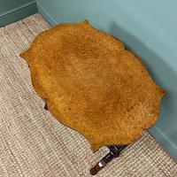Spectacular Victorian Birds Eye Maple Occasional Table (7 of 8)