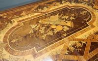 French Louis XVI Style Marquetry Card Occasional Table (10 of 13)