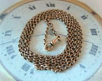 Edwardian Ladies Pocket Watch Guard Chain 1905 12ct Rose Gold Filled (5 of 8)