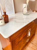 Flamed Mahogany Chest of Drawers / Sideboard / Commode with Marble (3 of 8)