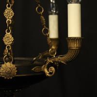 French Gilded Bronze Empire 4 Light Chandelier (4 of 10)