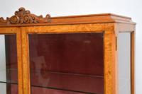 Queen Anne Style Burr Walnut Display Cabinet c.1930 (9 of 11)