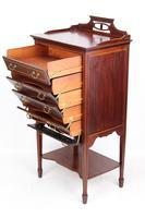 Antique Edwardian Mahogany & Inlaid Music Cabinet (3 of 12)