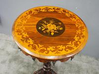 Marquetry Inlaid Walnut Wine Table (4 of 10)