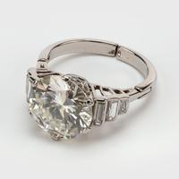 Art Deco Diamond 4.30 Carat Solitaire Engagement Ring c.1930