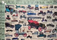 Intriguing Very Large 1960s Oak Framed Vintage Car Automotive Lithograph Poster (7 of 13)